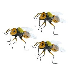 3x пастбища реалистичные пчелы насекомое орнамент Магнит холодильника яркая глиняная статуэтка модель статуи DIY микро пейзаж газон скульптура летний декор