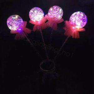 Bowknot luminoso Handheld Balloon Kids LED Giocattoli Balloon Magic Light Emitting Sticks Stick bambini festa nuziale della Gifts 42CM FFA3194