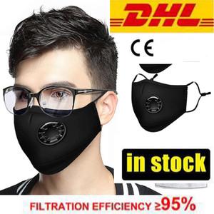DHL pronto per la spedizione! PM2. 5 respiratore Viso Maschera 100% Brand New bocca foschia della polvere anti inquinamento fumo