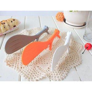 2019 SICAK Satış Güzel Mutfak Supplie Sincap Pota Sigara Çubuk Pirinç Paddle Meal Kaşık TOP1711 Şeklinde