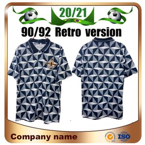 90/93 Retro-Version Nordirland National Football Team Fussball Jersey 1990/1993 Irland Away Kurzarm Fußball-Hemd-Uniform