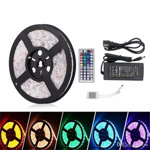 5M SMD5050 RGB Led Strip 300led m DC12V Waterproof 300leds + 44key RGB LED controller +12V 5A 60W Power adapter