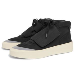 El miedo de los hombres de dios zapatos de los zapatos de invierno Justin Bieber Hombres de Negro gris invierno zapatillas de deporte 13 # 20 / 20D50