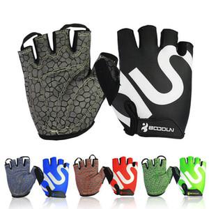 Fitness Men Women Gym Weightlifting Body Building Half Finger Workout Fitness Gloves Shockproof An-slip Sports Training Gloves