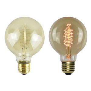 Vintage Edison ampuller ile Spiral Filament, 40 W değil-Dim E26 / E27 G80 Yuvarlak Küre büyük antika ışık 120 V 220 V