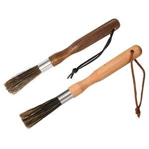 2019 Hot 1 Pcs Coffee Grinder Cleaning Brush Boar Bristles Walnut Wood Handle with Hanging Belt QJ888 #3