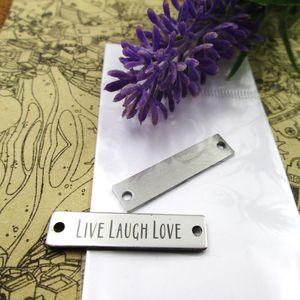 40pcs - «Живой смех любовь Коннектор» прелесть нержавеющей стали больше стиля для выбора DIY очаровывает подвески для ожерелья
