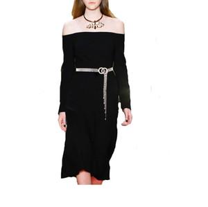Bella catena Womens della vita della cinghia progettista del diamante della donna Cinture eleganti catene della vita per le donne Larghezza della cinghia 18 millimetri