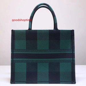 Top quality book tote embroidered canvas handbag designer luxury handbags2020 fashion brand ladies shopping bag casual bags