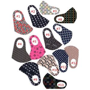 Máscaras máscara facial Letters impressão Máscaras sunproof contra pó Ciclismo Anti Poeira cobrir a boca respirável finas para mulheres dos homens E4301