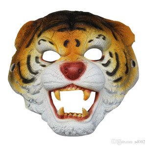 Animal Маска обезьяны Tiger Wolf лицевая часть Хеллоуин костюм Бал бар Производительность Украсьте Supplies Упругость Хороша Прочный мягкий 8lwC1