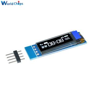 0.91 بوصة 128x32 iic i2c الأبيض oled lcd عرض diy oled وحدة سائق ssd1306 جيم dc 3.3 فولت 5 فولت لاردوينو بيك