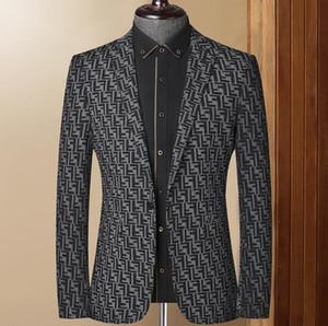Fashion New Plus Size Mens Business Suits Spring Autumn All-match Men's Blazers Jackets Slim long-sleeve Blazer Men Jacket
