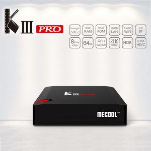 MECOOL KIII PRO DVB S2 DVB-T2 DVB-C Android 7.1 TV Box 3GB 16GB Amlogic S912 Octa Core 64bit 4K