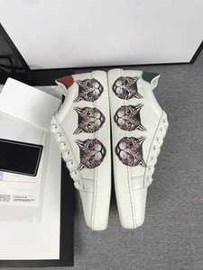 2019 Ace Embroidered Sneaker Men Ms Classic Casual Shoes python tiger bee Flower Embroidered Cock Love Fashion Luxury Designer Sneakers