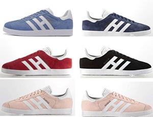NUEVO Venta barata Hombres Mujeres Zapatos Gazelle Suede Low Cut Casual Flat Shoes Brand Sneakers para Unisex Zapatillas Walking Shoes Trainers 36-45