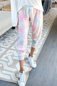 Бесплатно для пижамы Tiedye для женщин Crew Neck Tie Dye Pajama Коротких наборов Tie Dye Пижама Цветочных печати Ночного Bwkf Hot