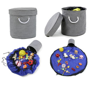 Toy Storage Bags Portable Kids Toy Play Mat Toys Organizer High Capacity Drawstring Pouch Practical Storage Container Save Space YP582