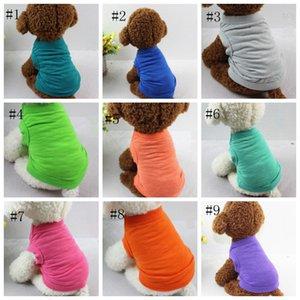 Собака Одежда Маленькая собака Жилеты дышащий щенок Спортивная одежда Сплошные цвета щенок Vest лета Одежда для собак 13 цветов Оптовая DSL-YW3093