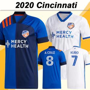 20 21 Cincinnati Mens FC Soccer Jerseys NEW WASTON GARZA KUBO Home Blue Away Football Shirt MEDUNJANIN A. CRUZ AMAYA Short Sleeve Uniforms