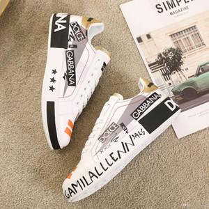qualidade limitada Top couro Mens sapatos casuais, Plataformas Imprimir padrão par sapatos de moda personalidade selvagem sapatos desportivos Tamanho: 38-45 0190