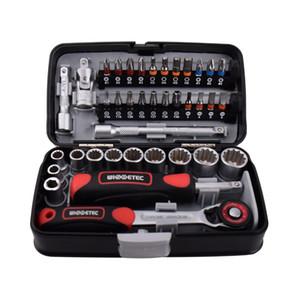 """KKMOON 38pcs Mini chiave a cricchetto Set 1/4"""" Socket Screw Bit Kit Bike Maintenance Repair Tool mano"""