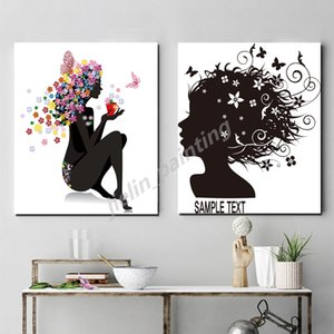 Flower Fairy Clipart Beauty And butterfly Nordic Style Poster Print Minimalist Wall Art Canvas Painting Picture Home Decoration