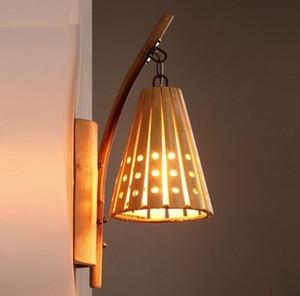 American Loft Style Bamboo Wall Aplique Vintage Wall Light Para el hogar Antiguo Industrial Lámpara de pared LED Iluminación interior LLFA