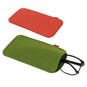 1PC Lunettes de soleil Sac unisexe Lunettes étui souple en feutre Tissu Lunettes Pouch Lunettes de protection Lunettes Accessoires de haute qualité