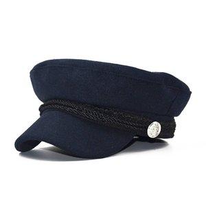 2020 ombre chapeau de laine de mode automne militaire chapeau octogonal et patchwork rétro hiver Béret style anglais femme