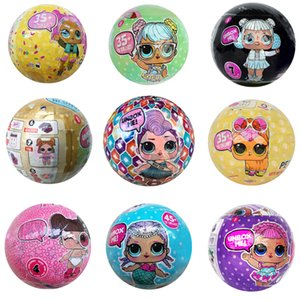 11 styles 10cm lol dolls Christmas gift detachable kid toy lol Action figures Bling Glam glitter pet Confetti Pop Series doll