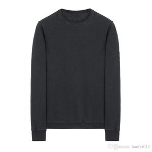 18SS 65360 WASHED CREWNECK SWEATSHIRT TOPST0NEY Men Women ROUND Collar Sweatshirts Fashion HFLSWY239