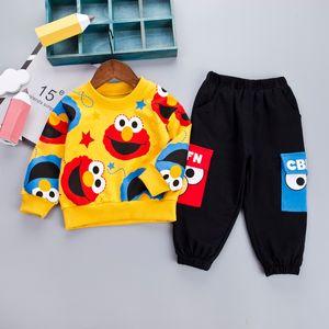 Traje de los niños ropa de los muchachos muchacho de la historieta de la manera fijadas informal de la venta caliente Niños de disfraces de niño de la ropa del T-Mierda + pantalones negros niños