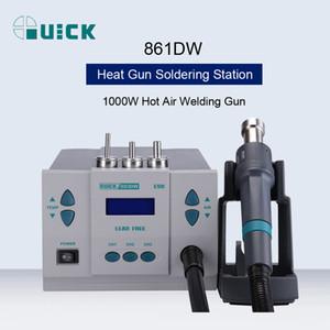 QUICK 861DW 1000W 220 / 110V Heat Gun sans plomb chaud Air Station à souder pistolet à air chaud microordinateur Rework station de dessoudage