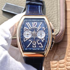Relojes para hombre V45 blue yacht 7750 movimiento 44mm marca ultra precisa relojes de precisión trabajo montre DE luxe profundidad impermeable