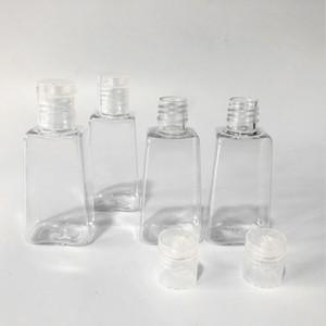 Dropshipping fabbrica bottiglia gel disinfettante 30ml mano trasparente bottiglia di PET trapezoidale liquido squeeze Confezione sapone bottiglia Mano B1603