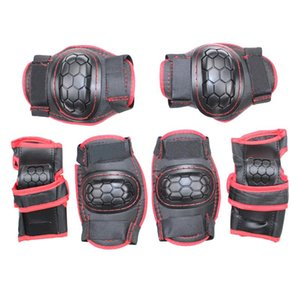 6pcs Kids Hand Guard Knee Elbow Wrist Bicycle Outdoor Sports Ice Skate Roller Adjustable Skating Protective Gear Set Gift Safety