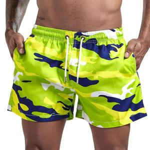 Nuevo diseño hombres de la moda del traje de baño Correr Pantalones Surf Deportes Playa camuflaje pantalones cortos de los troncos de natación cortos delicados