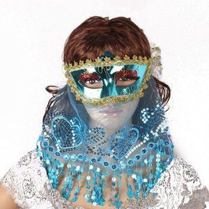 Moda Mulheres Sexy Lace Masquerade Senhora elegante Prom Party Máscara Misteriosa Máscara Facial Belly Dance máscara misteriosa partido do laço Veil