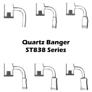Quartz Banger 10mm 14mm 18mm Male Female Opaque Gavel Bottom 90 Flat Top Quartz nail Core Reactor Bottom For Dab Rig Water bong