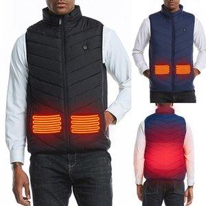 Men's Vests 2021 Electric Heated Vest Men Women Heating Waistcoat Thermal Warm Clothing Usb Outdoor Winter Jacket