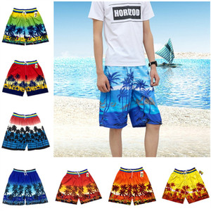 Artı boyutu Erkekler Plaj Şort Hindistan cevizi Palm Kısa Pantolon Hawaii Sandy Şort İpli Erkek Mayo Serbest Zaman Plaj Giyim Giyim yazdır