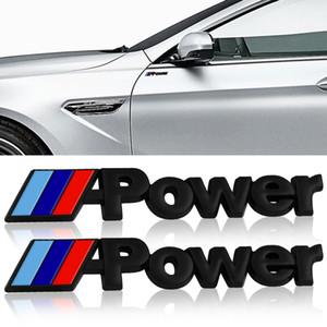Power Motorsport Metal Logo Car Sticker Rear Trunk Emblem Grill Badge for BMW E46 E30 E34 E36 E39 E53 E60 E90 Car Styling