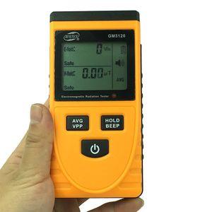 GM3120 Электромагнитный радиационный тестер электромагнитный EMF Магнитное электрическое поле Microtesla V / M Измеритель тестера