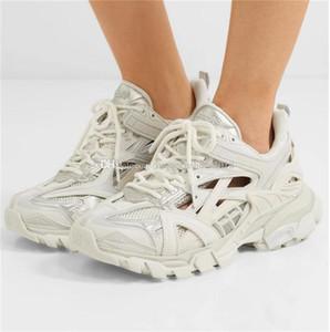 Designer-NO Tracciato 2 Sneakers 19FW bianco track2 lace-up da jogging scarpe da ginnastica 3M Triple S escursionismo Chaussures