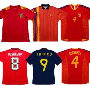 2002 Jersey Retro Spagna RAMOS Calcio 1994 2010 David VILLA RAUL TORRES maglia da calcio di ritorno XAVI HIERRO A. INIESTA antica maglia