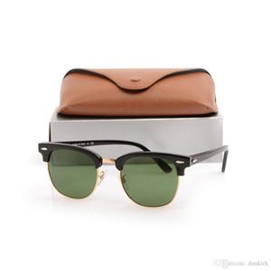 Yeni Usta Güneş gözlükleri Metal menteşe Güneş Gözlüğü Tahta siyah Güneş Gözlüğü Kulübü erkek güneş gözlüğü bayan gözlükler kahverengi kılıfları ve kutuları ile