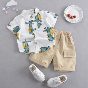 Baby Clothes Set Boys Short-sleeved Cartoon Shirt Shorts 2Pcs Baby Suit for Boy Clothing Set Outfit Kids Summer Costume