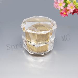 50PCS 50G Empty Cream Jar Plastic Acrylic Refillable Bottles Gold Bird's Nest Diamond Pot Travel Face Lotion Cosmetic Container