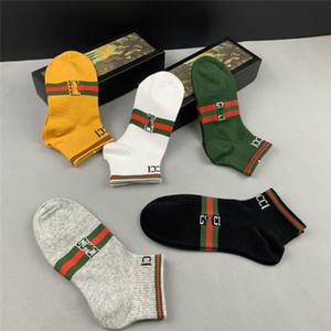 SS20 Nouvelle arrivée Top Qualité Designer chausettes boîte de 5 paires Femmes Marque Chaussettes # 009